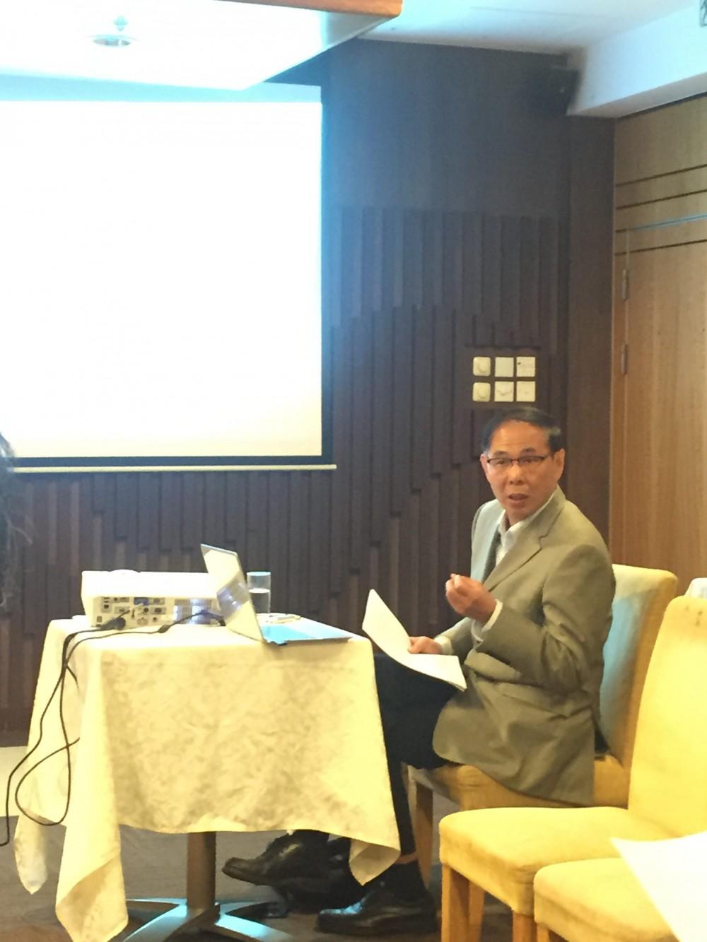 張宏生教授,於香港浸會大學,2017年3月1日