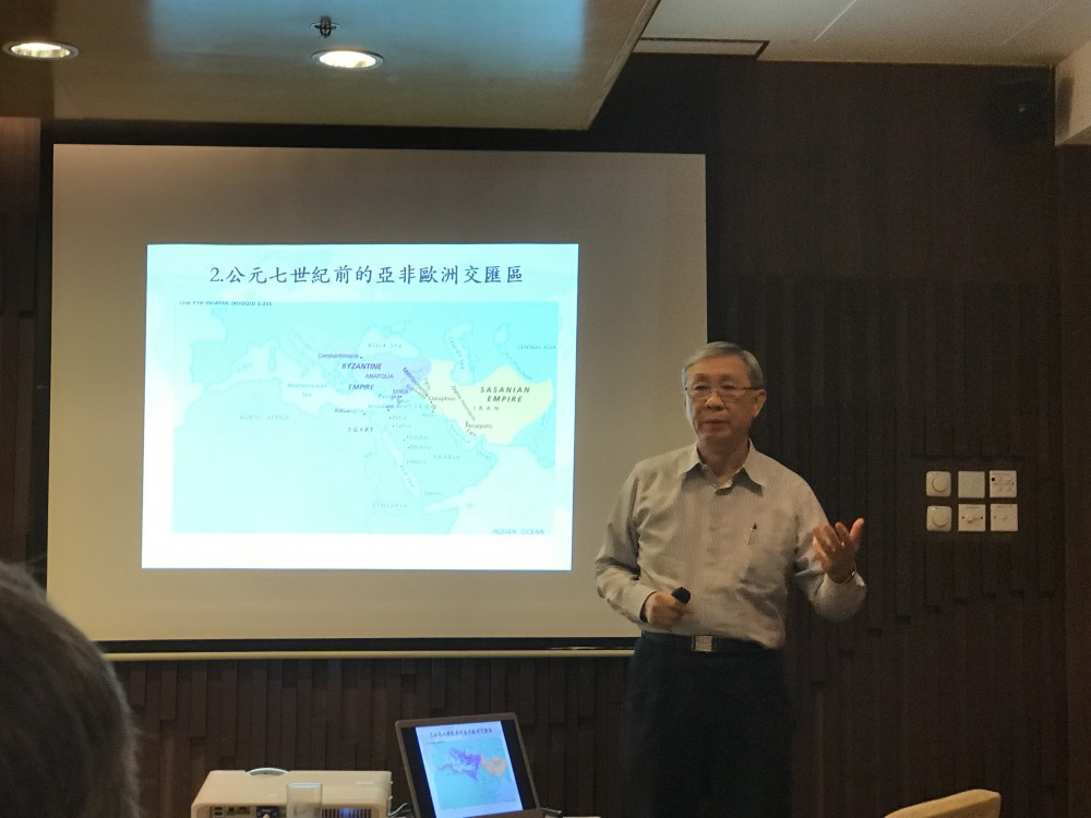 張信剛教授,攝於香港城市大學,2017年11月14日