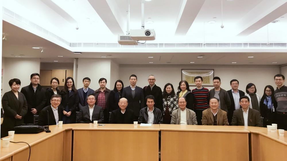 2018年1月文化沙龍留影,攝於香港中文大學
